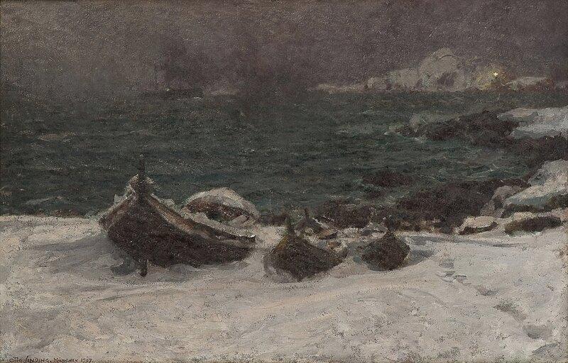Tåket vinterdag 1907
