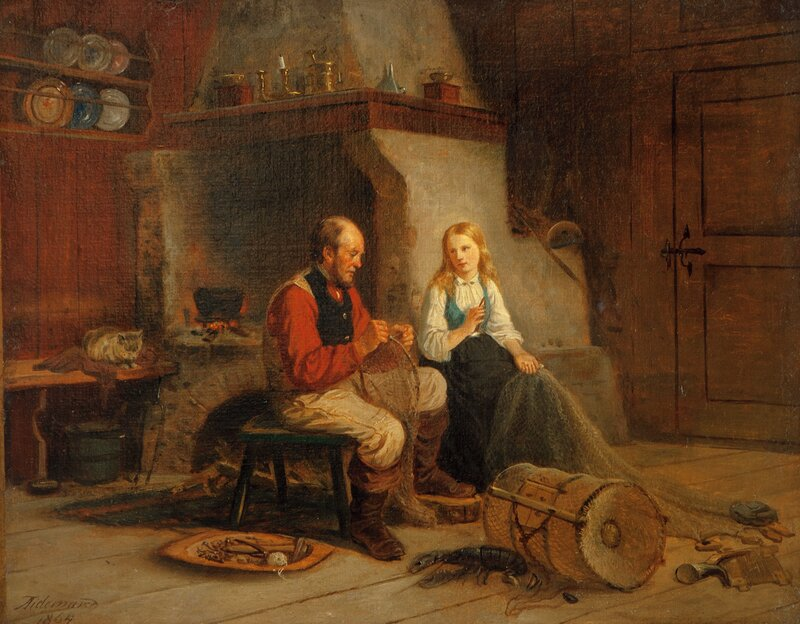 The Fisherman and his Daughter 1864