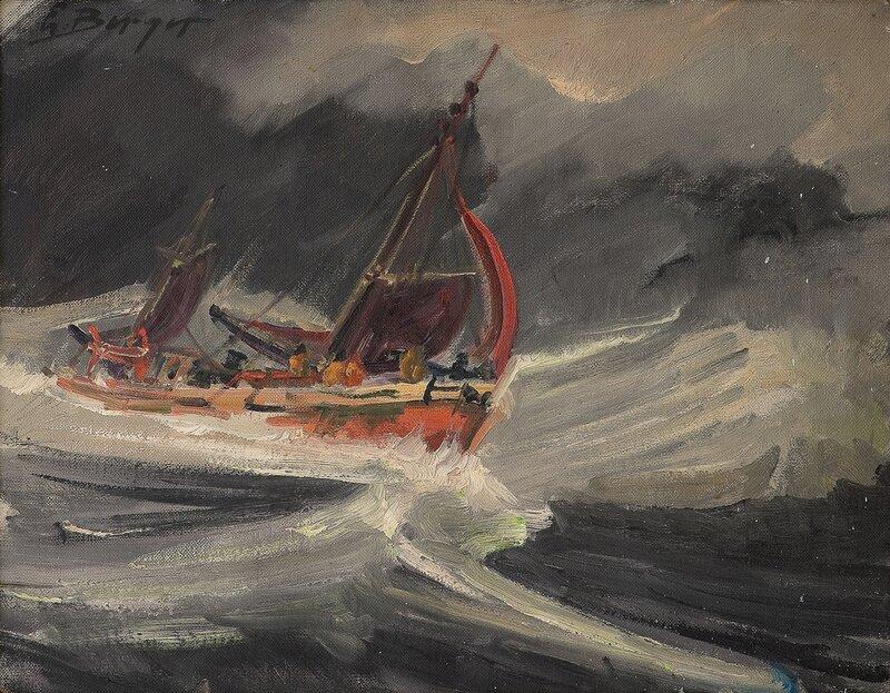 Fiskebåt i opprørt sjø