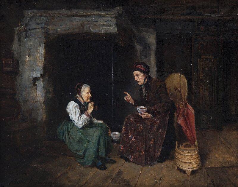 To kvinner ved grue 1878