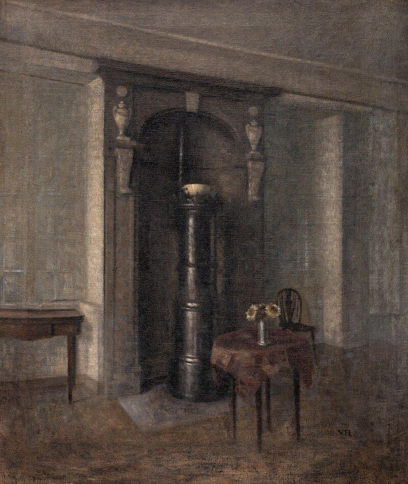 Interiør med marmornisje 1914 - UTGÅR