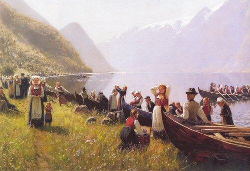Kirkegang i Hardanger