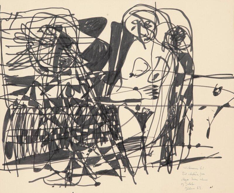 Kvinneakt med fugl 1962