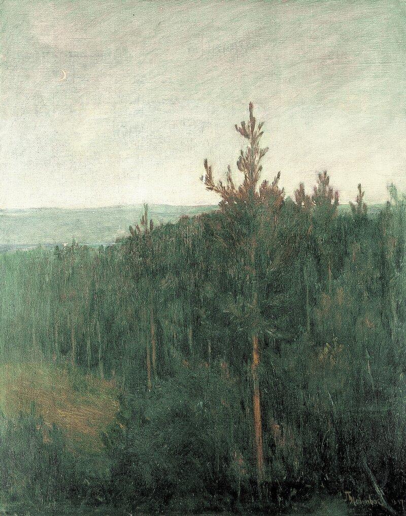 Skogslandskap Aften 1897