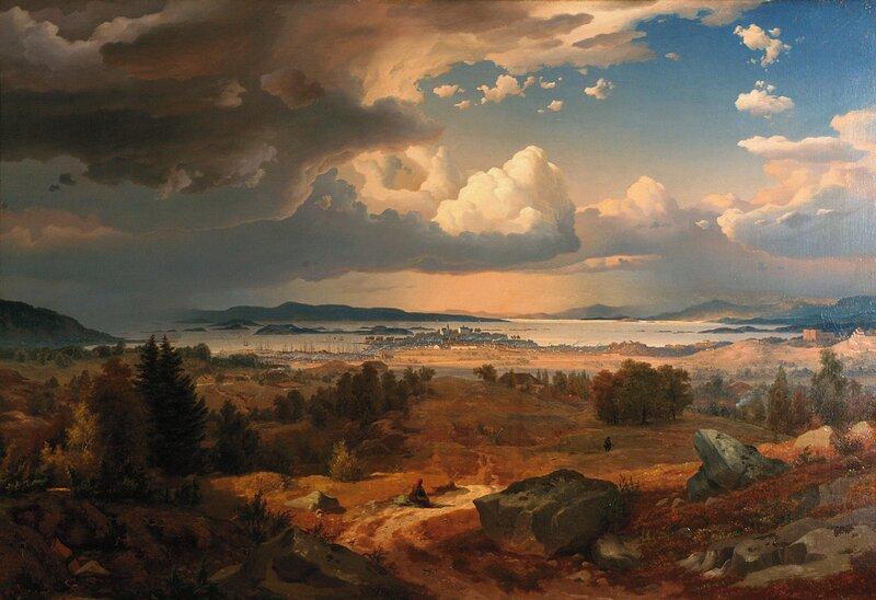 Christiania sett fra Trondhjemsveien ved Sinse1847