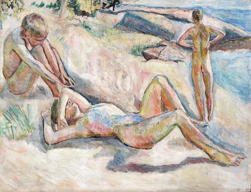 Badende gutter 1913
