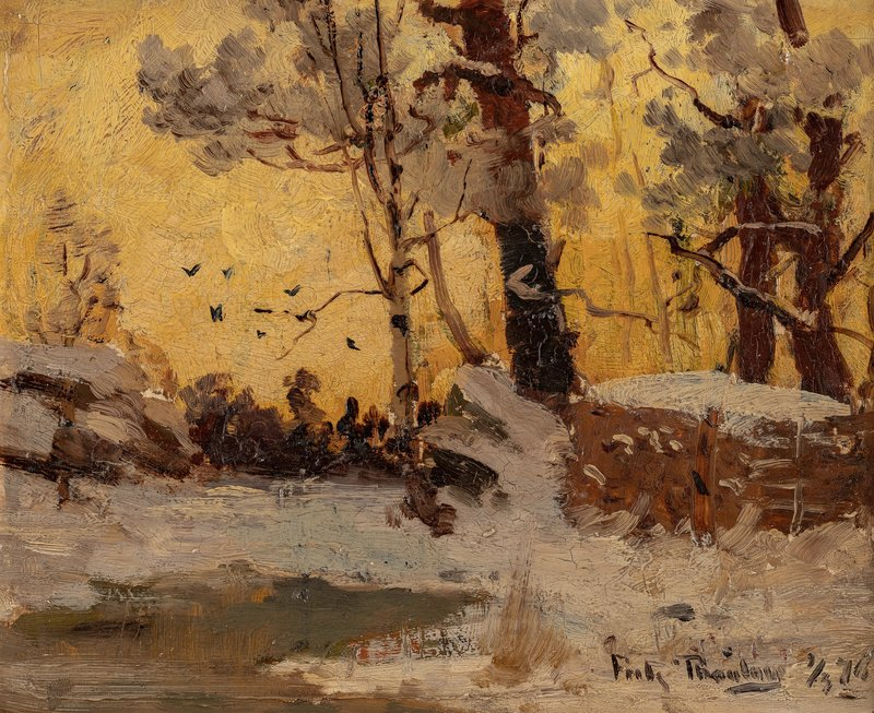 Studie, ettermiddagslys vinter 1876