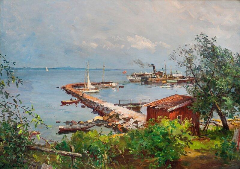 Rutebåten ved kai i Åsgårdstrand