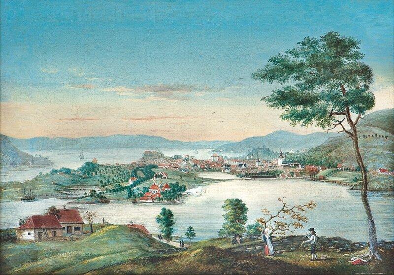 Bergen seen from Kronstad (1810)
