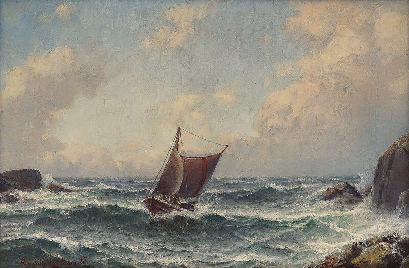 Losskøyte mellom klipper 1895