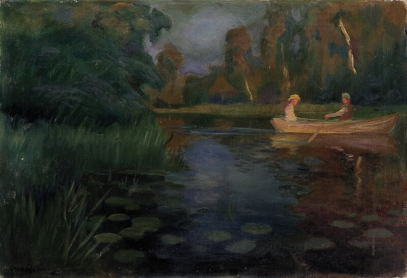 Aften på elven