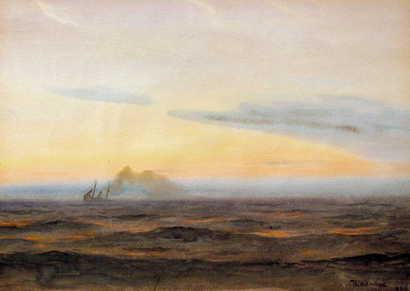 Dampskip, sommerkveld 1894