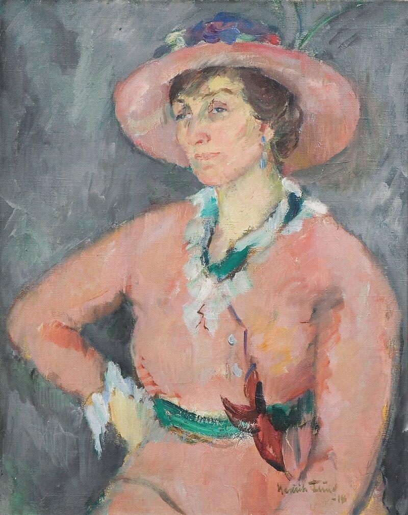 Portrett av Agnes Mowinckel 1918