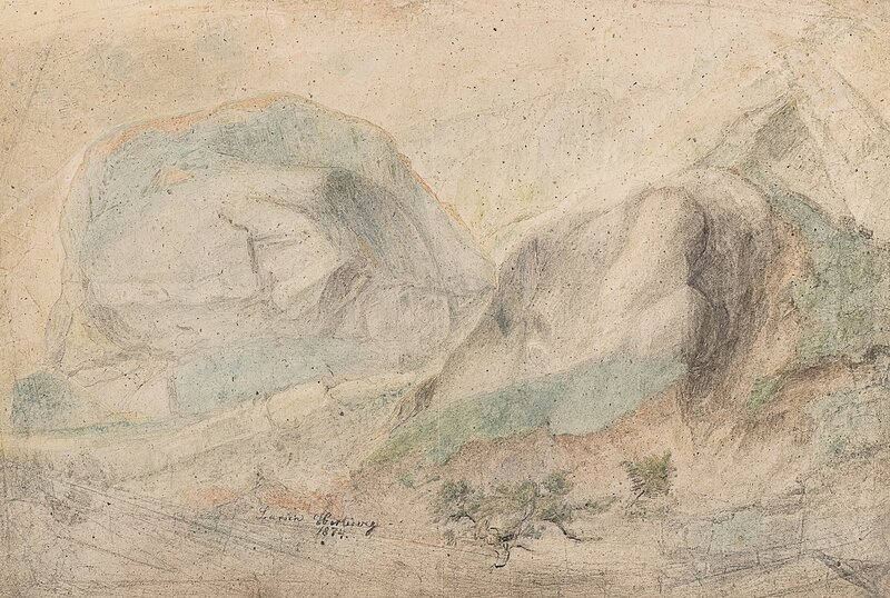 Landskap med fjellknauser 1874