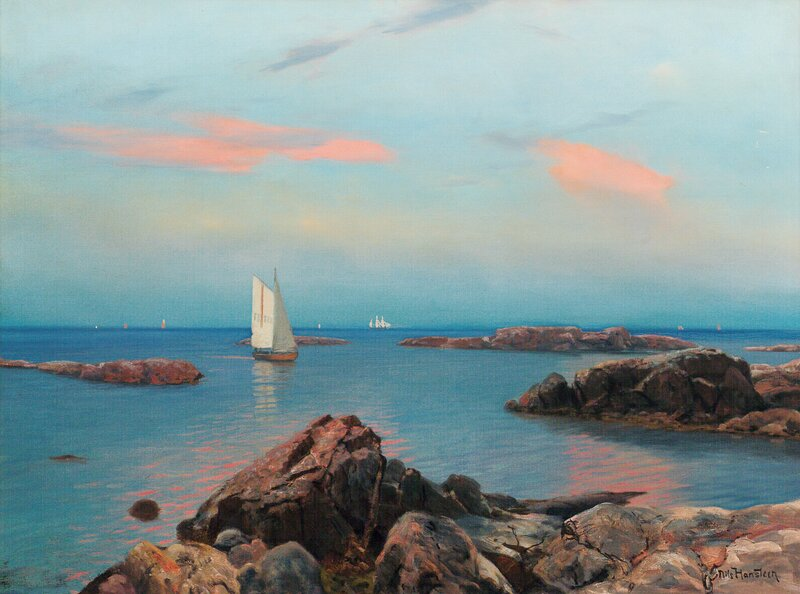 Sommeraften ved kysten, Hvaler