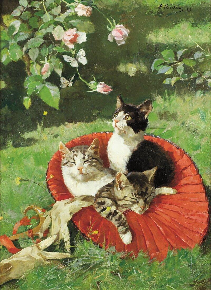 Tre katter i en hatt 1888