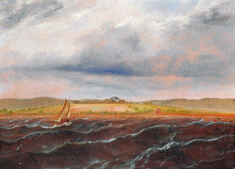 Herregården Alby på Jeløen sett fra sjøen