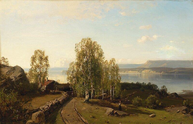 Gård i fjordlandskap 1877