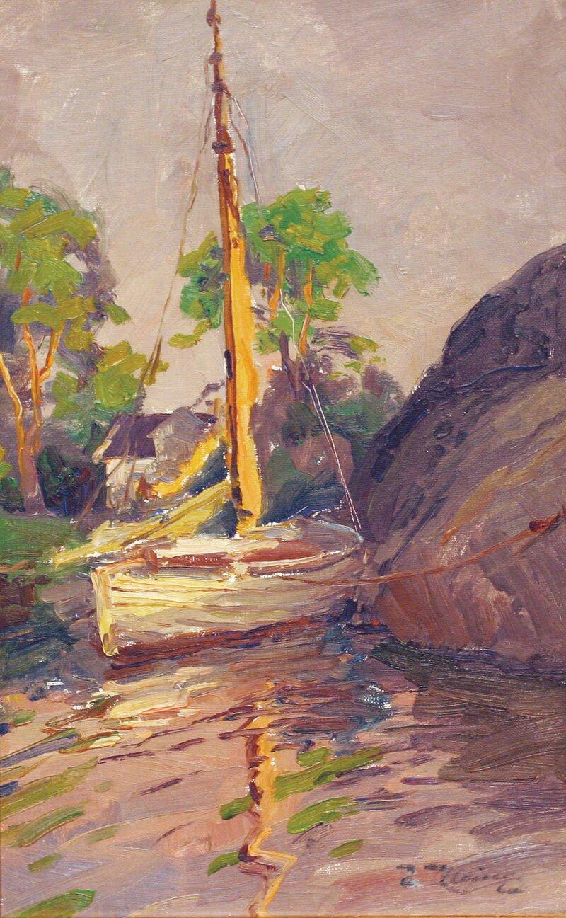 Seilbåt i havn