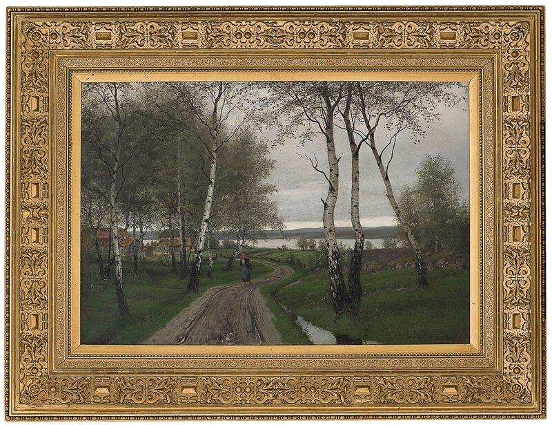 Bjerkeskog etter regn 1884