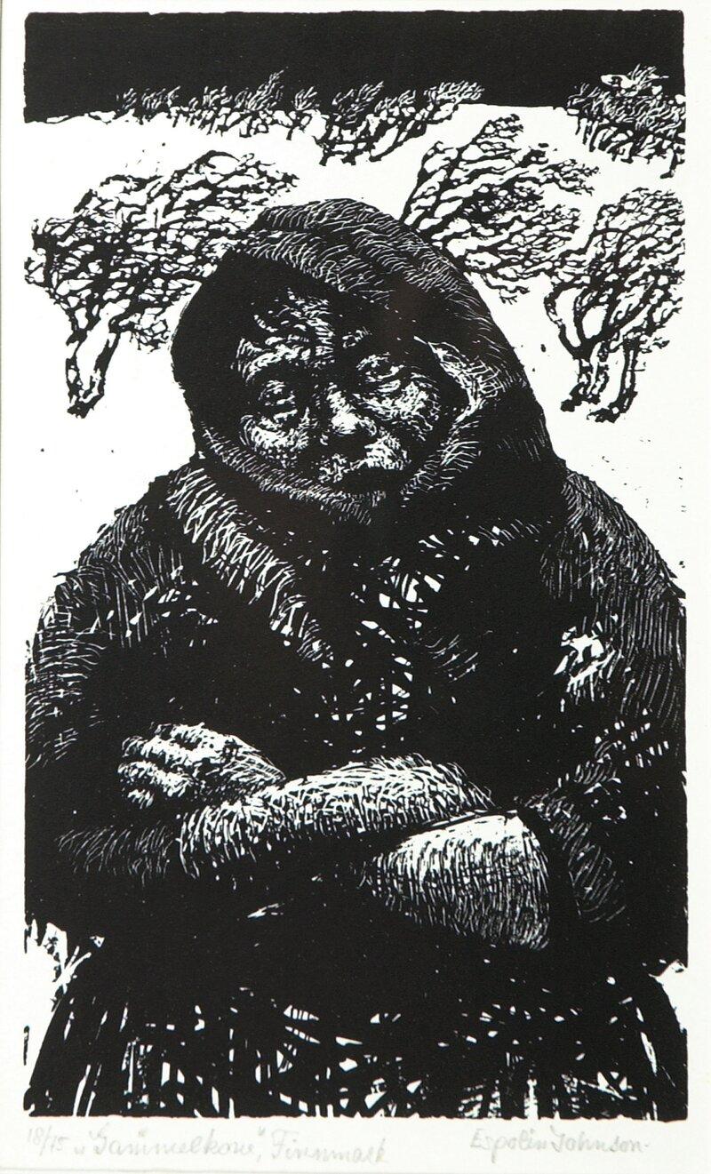 Gammel kone Finnmark