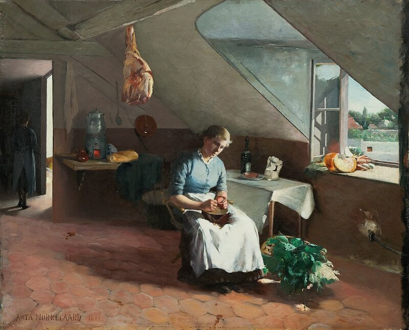 Fransk kjøkkeninteriør 1881