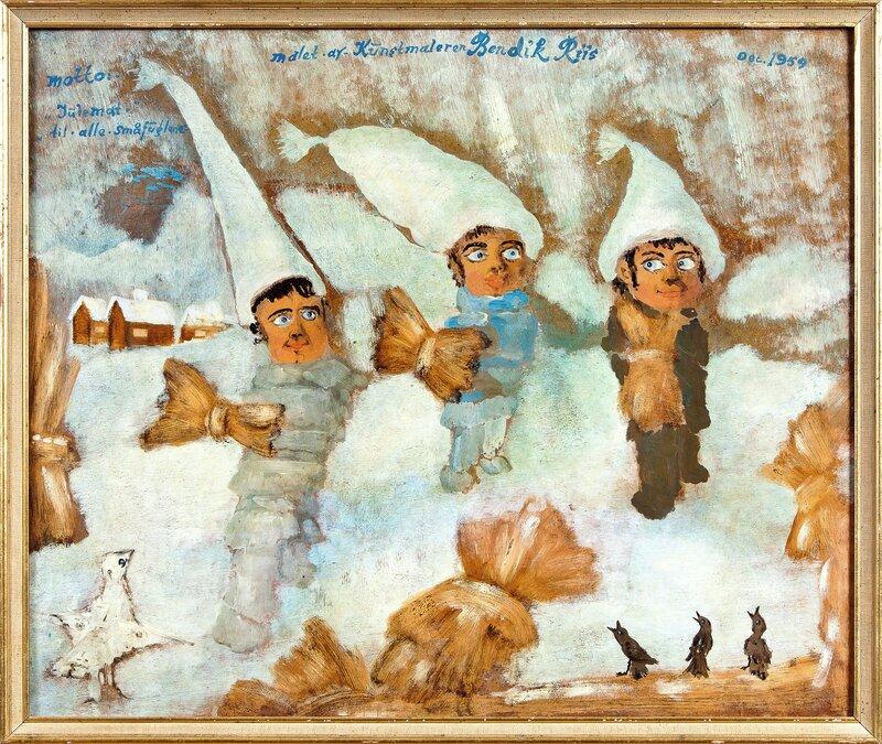Julemat til alle småfuglene 1959