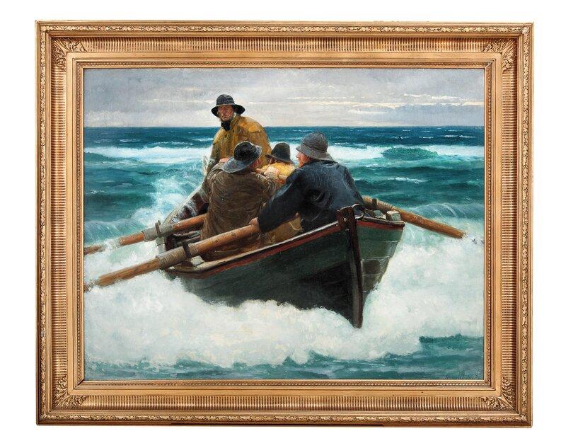 Fiskere styrer gjennom brenninger 1887