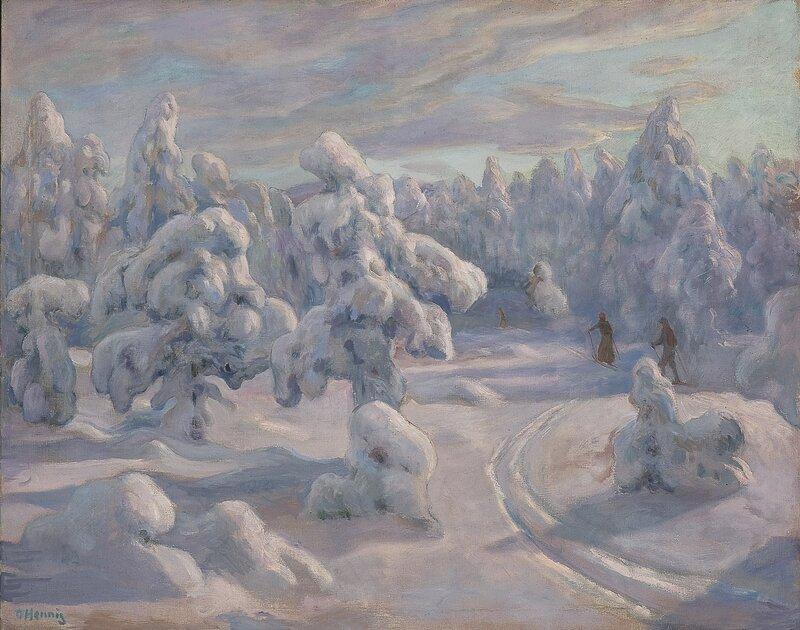 I Nordmarka etter snefall