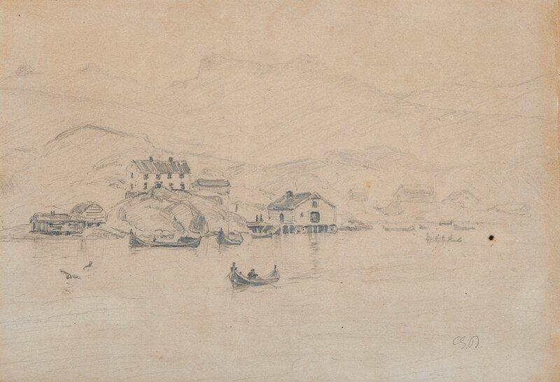 Fiskevær i Lofoten med folkeliv
