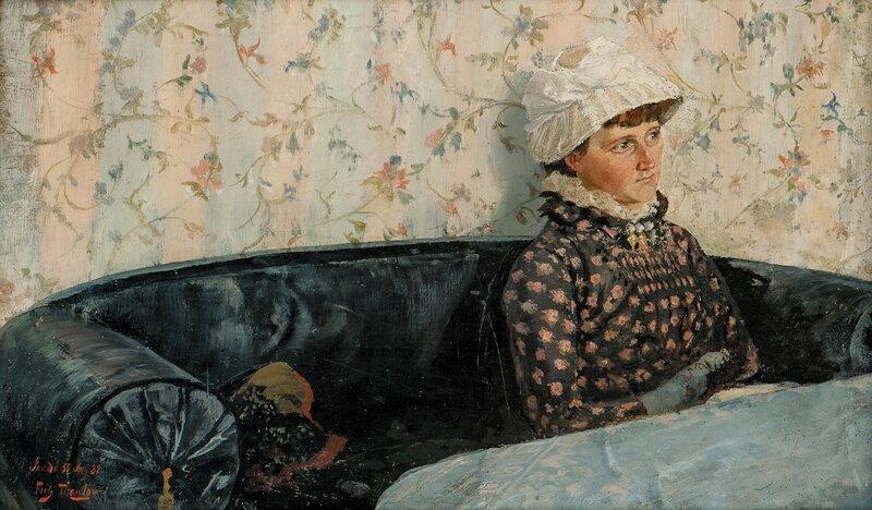Ingeborg i sofaen, Sandø 1882