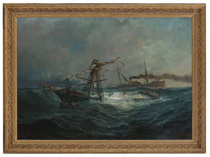 Dampskipet Dana ved et skipsforlis 1894