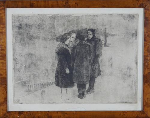 Fire pratende jenter 1909