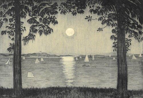 Fra Akershusvollen, aften 1926
