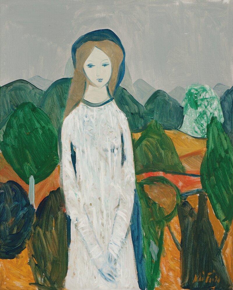 Kvinne i landskap