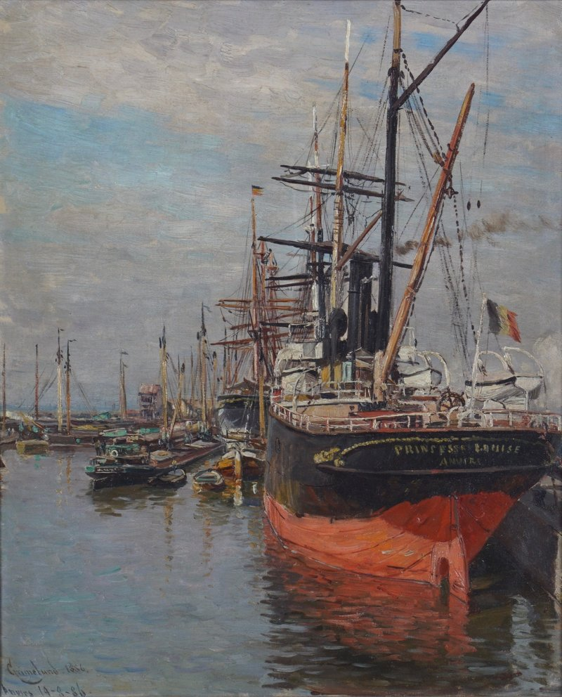 From the Port of Antwerp 1886
