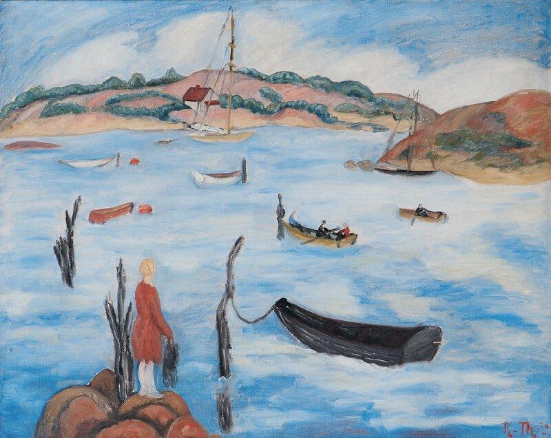 Sommerdag ved fjorden 1930