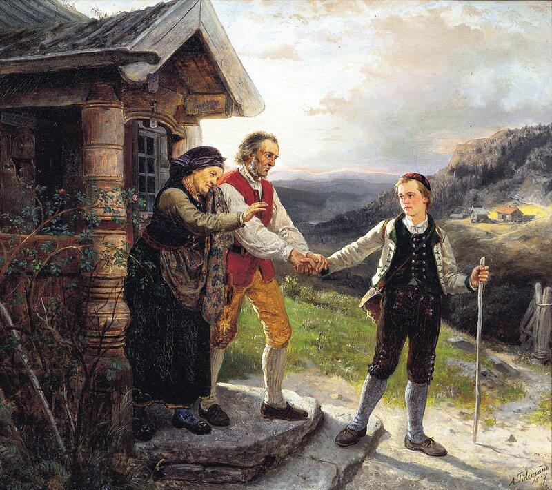 Den yngste sønns avskjed 1867