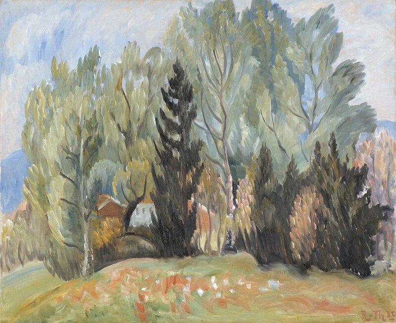 Hus og trær 1932