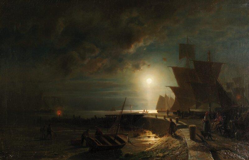 Måneskinn ved Kuxhaven 1866