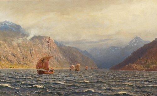 Armada av vikingskip