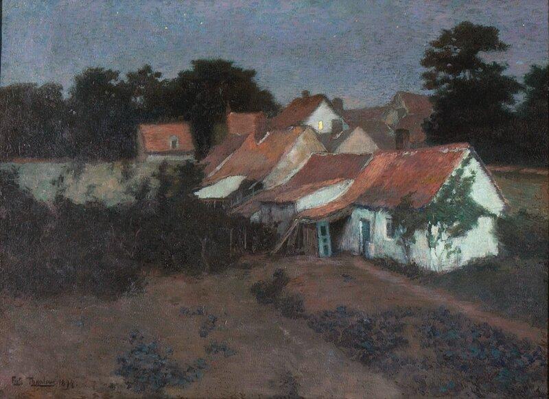 Fransk landsbygate, natt 1894