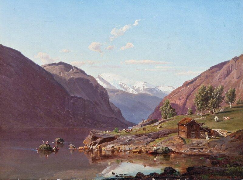 Parti fra Ytre Kroken i Sogn 1850