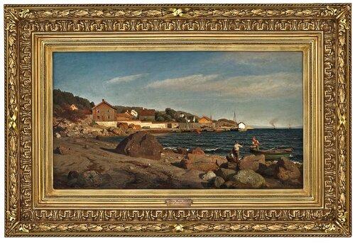 Sundbryggen i Drøbak 1876