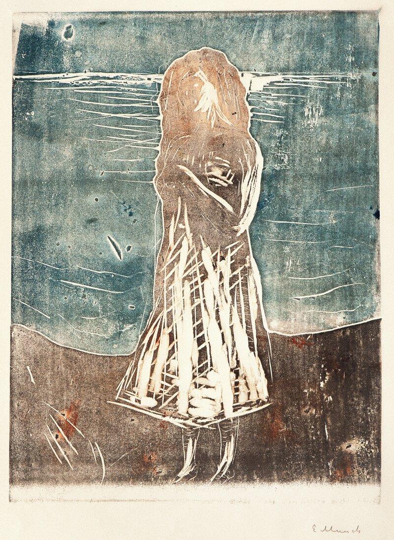 Ung kvinne på stranden