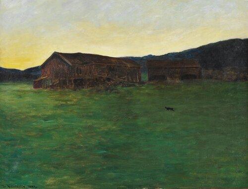 Kveld på Soletunet i Eggedal 1897