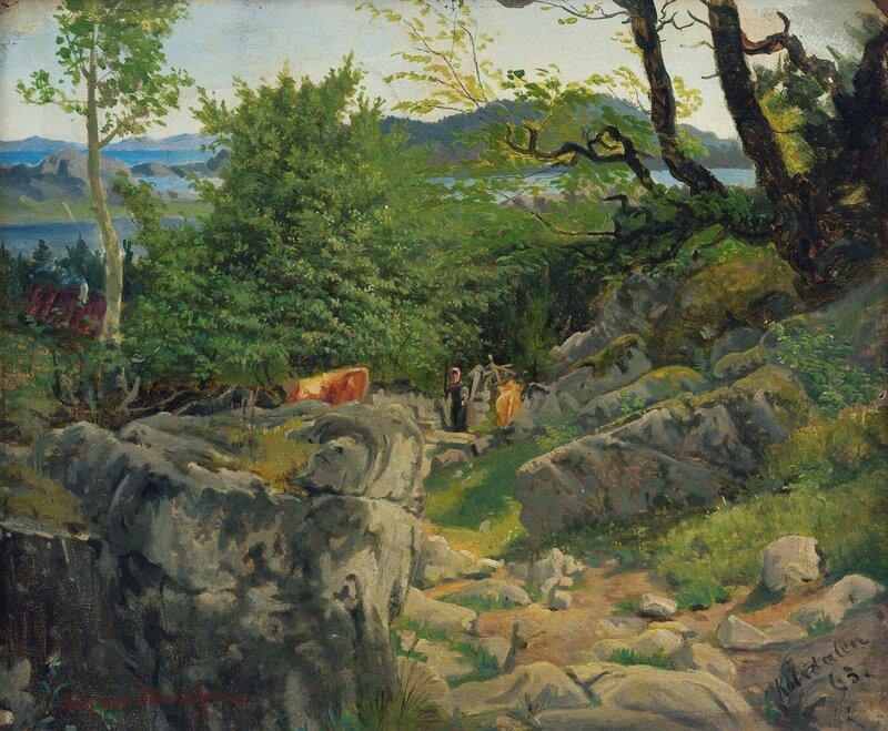 Fra Kolsdalen ved Kristiansand 1863