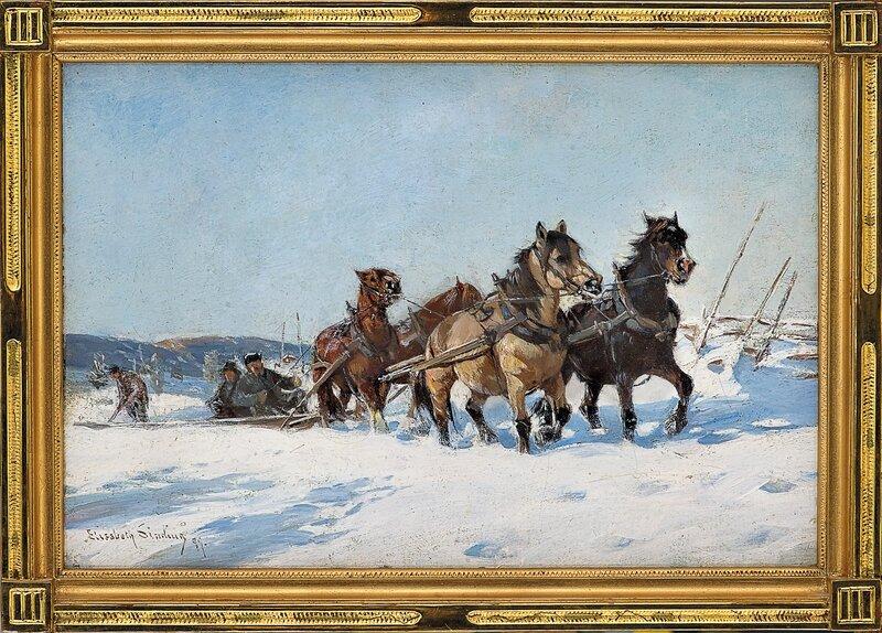 Hestespann, vinter 1899