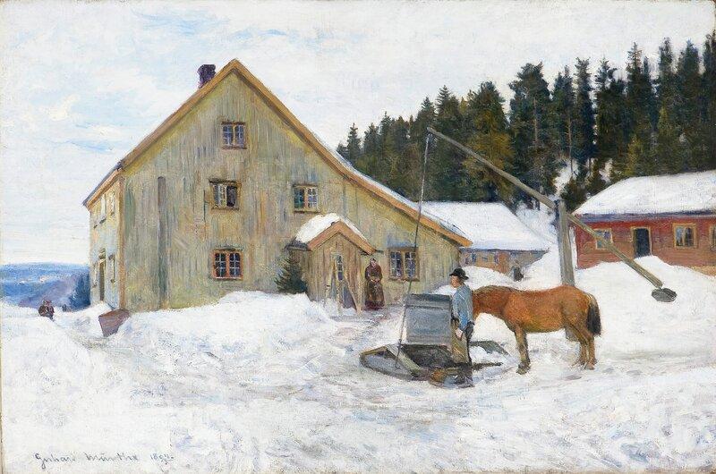 Farmyard, winter