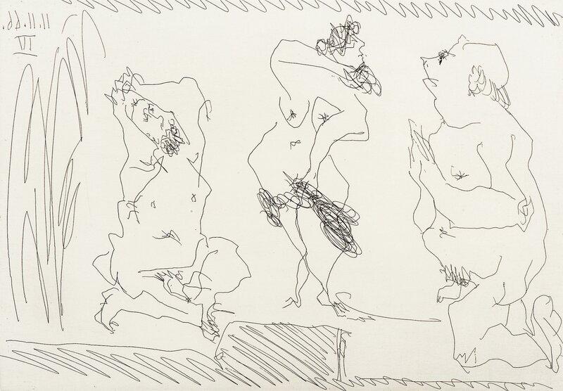 Danserinne og to gamle menn 1966